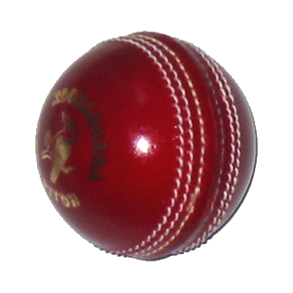 [Graphic: Cricket ball]